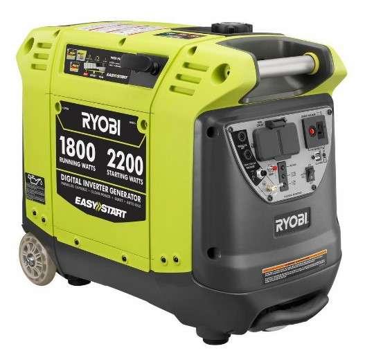 Ryobi benzinom poháňaný digitálny invertorový generátor